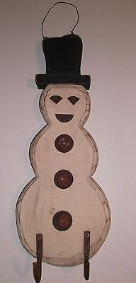Unique Wooden SNOWMAN  Wall Hanging