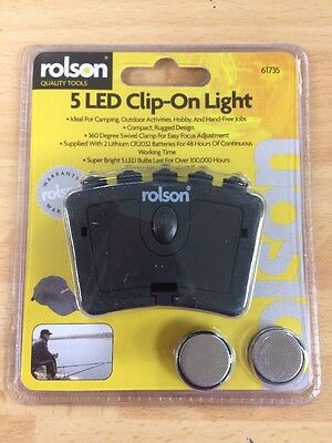 Rolson 5 LED Clip On Light- Ideal For Attaching To Cap