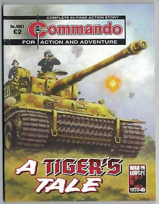 4801 Commando For Action And Adventure A Tiger's Tale NEW 63 Page Story War Book