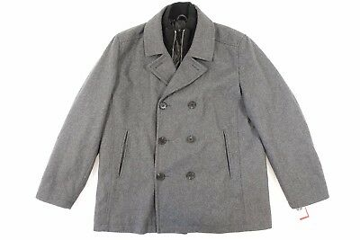 authentic quality good quality cheap price INC INTERNATIONAL CONCEPTS Gray Xl Wool Blend Peacoat Pea Coat Jacket Mens  Nwt