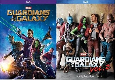 Guardians of the Galaxy 1 & Vol. 2 DVD Combo Pack ORIGINAL & SEQUEL