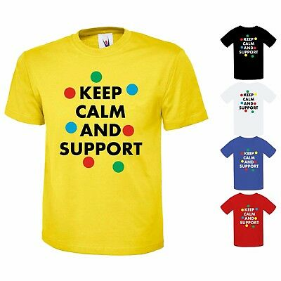 Keep Calm And Support Top Boys Girls School 10% To Children In Need T-Shirt Kids