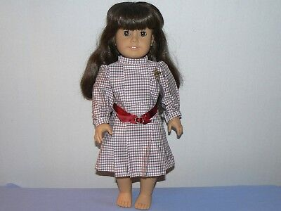 "American Girl Doll Samantha 18"" white body Pleasant company dark hair dress pin"