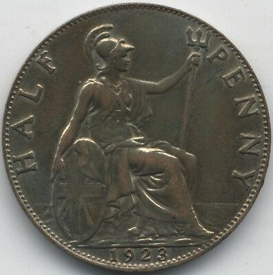1923 George V Half Penny***Collectors***BUNC***