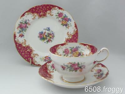 Vintage PARAGON Trio - *Rockingham* (RED) Cup-Saucer-Sideplate - Excellent