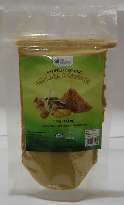 Certified Organic Ginger Powder 4x100g -- 22% Off & Free Postage ***NEW STOCK***
