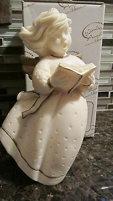 """New Windsong Angels 7"""" Angel with Book Figurine Roman 83652 Made in Italy"""