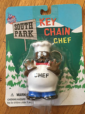 south park key chain chef 1998 comedy central vintage new in package