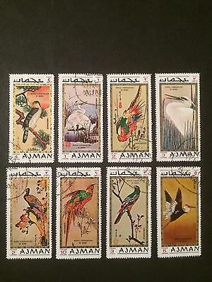 1971 - AJMAN - Exotic Birds - Set