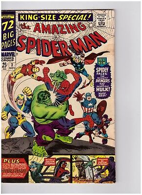The Amazing Spider-Man King-Size #3  Marvel Comics 1966