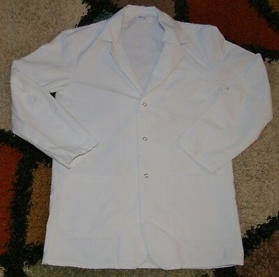 "Best Medical Unisex L/S Staff Lab Coat 3 Pockets White 30"" Length Sz XS (34)"