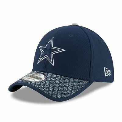 Dallas Cowboys Hat 2017 Sideline Official NFL New Era 39Thirty Cap Navy