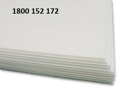 Corflute Protection Sheets - 2440 X 1200 X 2.7Mm (25 Sheets) White
