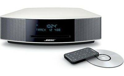 Bose Wave Radio Iv Am Fm Aux Platinum Silver With Remote