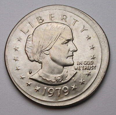 1979-P Sba Dollar With Uncentered Broadstrike, Chbu+  - See Other Auctions