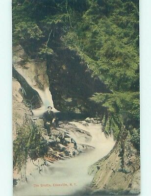 Divided-Back POSTCARD FROM Ellenville New York NY HM6398