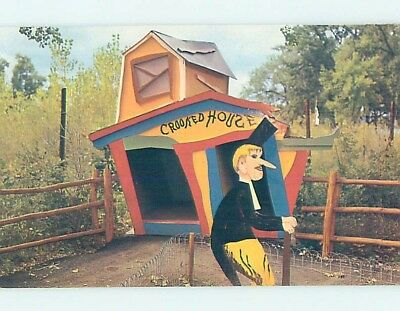 Pre-1980 Tourist Attraction CROOKED HOUSE STORYBOOK ISLAND Rapid City SD hn2029