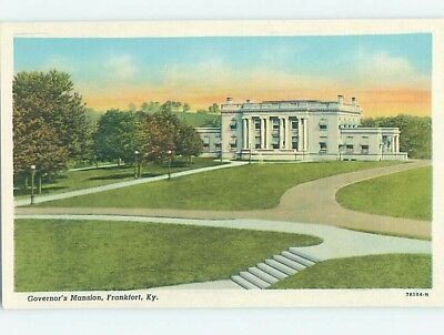 Unused Linen GOVERNOR'S MANSION Frankfort Kentucky KY HM9373-14