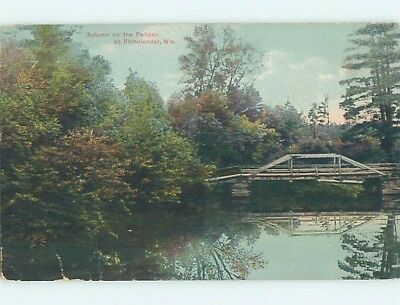 Divided-Back POSTCARD FROM Rhinelander Wisconsin WI HM6963