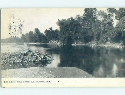 Damaged Divided-Back POSTCARD FROM Lafayette Indiana IN HM7617