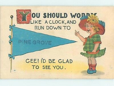 Divided-Back COMIC POSTCARD Pinegrove Wisconsin WI HM4814