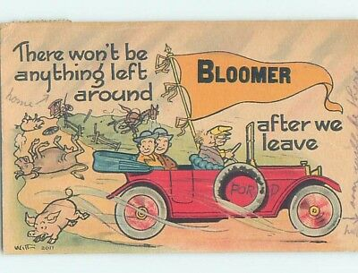 Divided-Back COMIC POSTCARD Bloomer Wisconsin WI HM4858