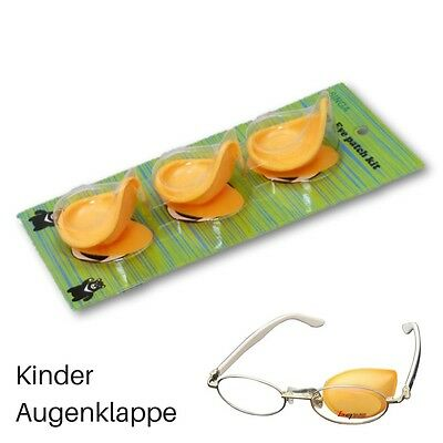 Lazy Eye Patch Amblyopie Kinder Augenklappe Brille Strabismus Eye-Patch 3 Stü.