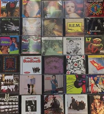 Music Cd Lot Of Rock Music Cds 50 Titles All In Cases
