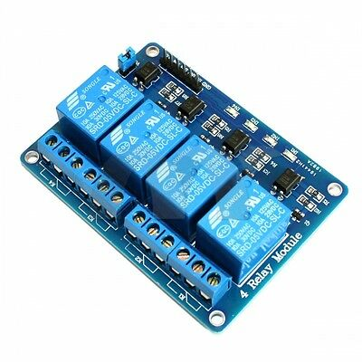 4-Channel Optic-Isolated Relay Module Low Trigger 3.3V/5V Arduino
