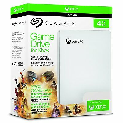 Seagate 2TB 4TB Game Drive for Xbox One USB 3.0 Store Over  200 Games NEW!