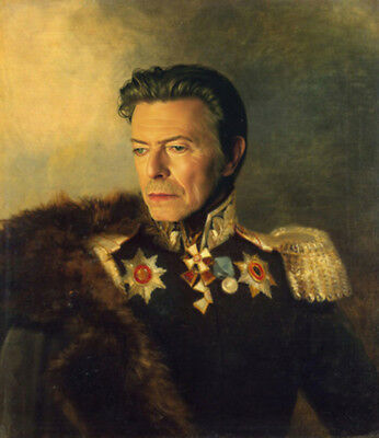 Hand painted General Portrait Oil Painting Wall Art on Canvas David Bowie 30