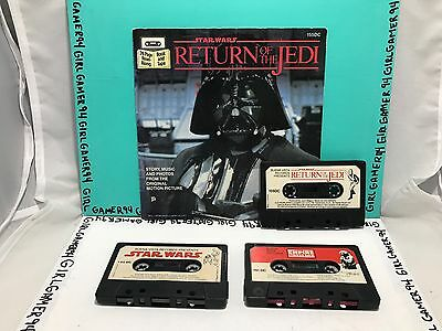 1979 Star Wars - Return Of The Jedi 24 Page Read-Along Book + 3 Cassette Tapes