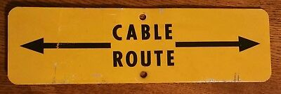 ~Vintage Bell System Telephone Cable Route Warning Metal Sign~ Man Cave~