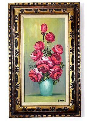 """Antique Vintage Original Oil on Canvas Painting Signed by Artist 20"""" x 32"""""""