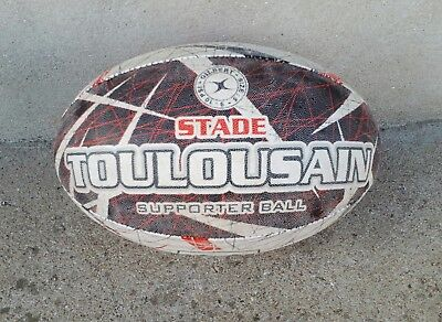 GILBERT Ballon de Rugby TS Stade Toulousain Size 5 TOP 14 SUPPORTER BALL