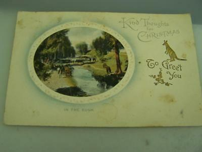 Christmas card PU South Australia One Penny Red to Seppeltsfield Barossa    0197