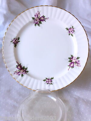 🌟 Purple Orchid Flowers Royal Windsor England Side Plate