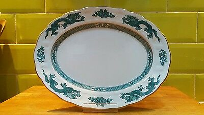 Antique Booths Green Dragon small Oval platter