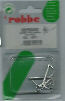 Robbe 1571 Cast Metal Grappel Anchor For Model Boat or Ship - Pack of 2