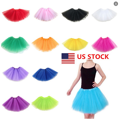 US Women Adult Ladies Skirt Tutu Hen Night Tutu Fancy Dress Party Tutu Colorful