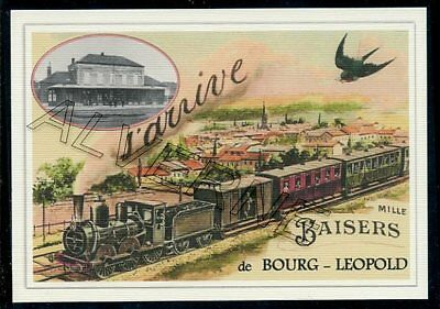 BOURG  LEOPOLD  --train  souvenir creation moderne serie numerotee