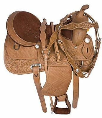 Horse  Leather Saddle Western Roping ranch ride with kit