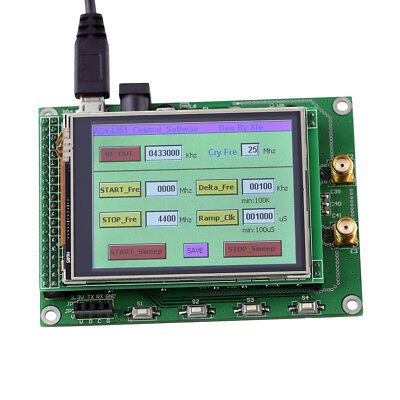 1pc ADF4351 RF Sweep Signal Source Generator Board 35M-4.4G+ STM32 TFT Touch LCD