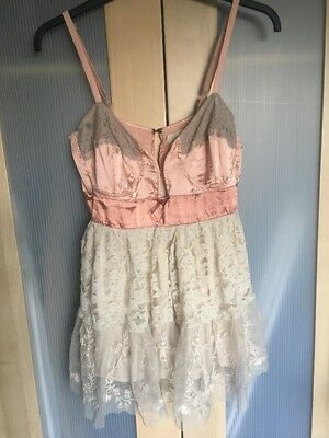 River Island Satin And Lace Pink Top  Size 12