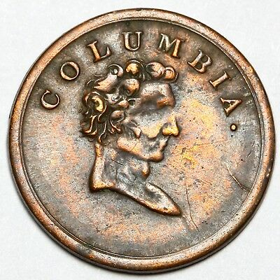 1820 To 1830 Columbia Copper Farthing Token Coin