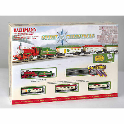 Bachmann Trains Spirit Of Christmas, N Scale Ready-to-Run Electric Train Set