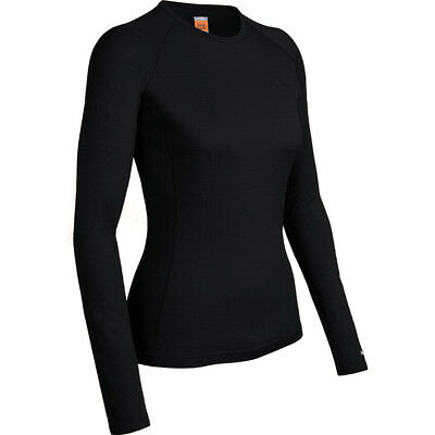 Icebreaker Oasis LS Crewe Merino Womens Thermal Top, Black