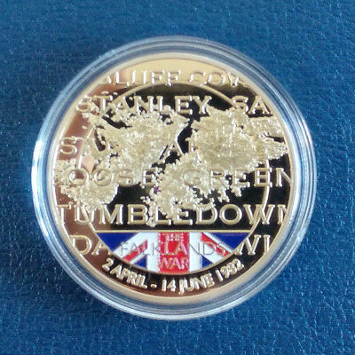 Great Britain / The Falkland War / Commemorative Silver Plated Proof Coin