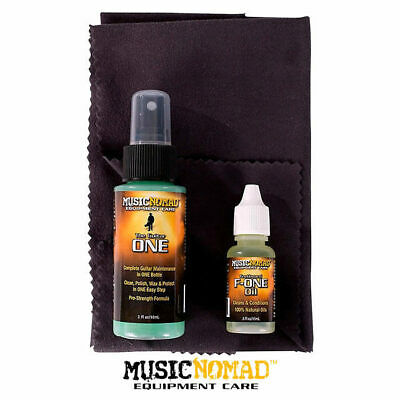 Music Nomad Guitar Care Kit Guitar One Cleaner Polish Wax Fet Oil Cloth NM140