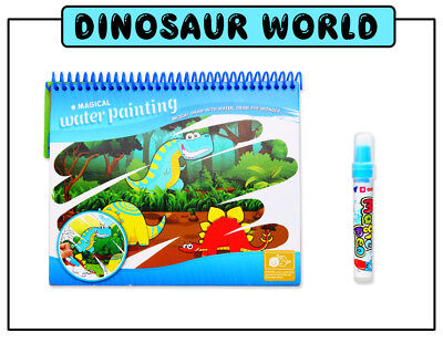 Magic Water Drawing Book Pen Coloring Book Dinosaur Painting Art For Children